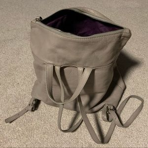 Neiman Marcus Gray Leather backpack